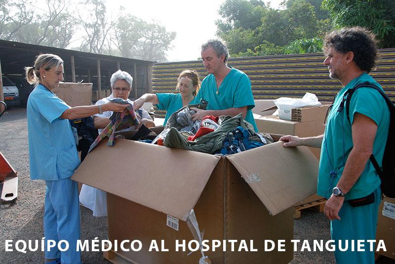 Desplazamiento del equipo médico al hospital de Tanguieta