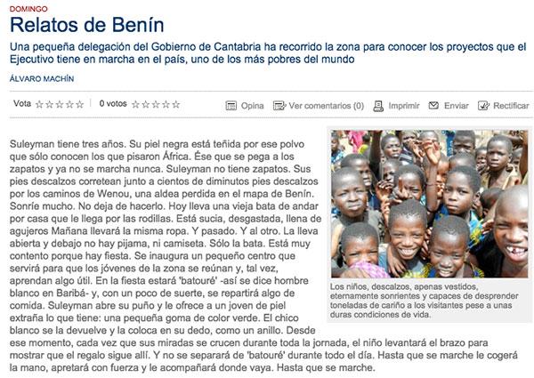 Relatos de Benin....