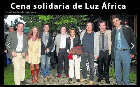 Cena solidaria de Luz África